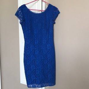 Gorgeous blue lace dress by Laundry